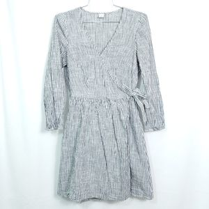 Old Navy Pin Stripe Beach Wrap Long Sleeve Dress